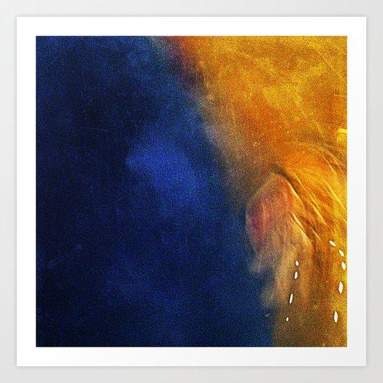 'BLUEORANGE' Art Print