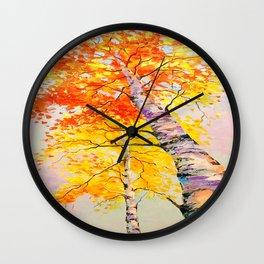 Heavenly birch Wall Clock