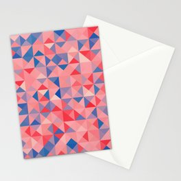 colorful Triangles 1 Stationery Cards