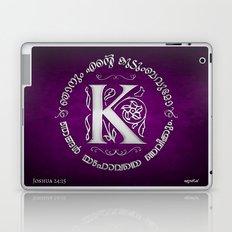 Joshua 24:15 - (Silver on Magenta) Monogram K Laptop & iPad Skin