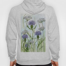 Thistle White Lace Watercolor Hoody