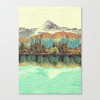 japanese Canvas Prints featuring The Unknown Hills in Kamakura by Kijiermono