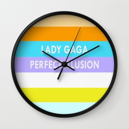 PERFECT ILLUSION BACKGROUND WITH TYPOGRAPHY Wall Clock