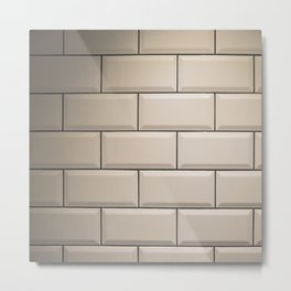 Subway Tile Metal Print