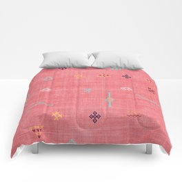 Cactus Silk Pattern in Pink Comforters