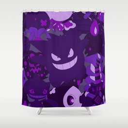 Gengar Ghost Shower Curtain
