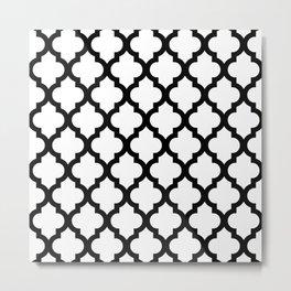 Moroccan Quatrefoil Pattern 721  Metal Print