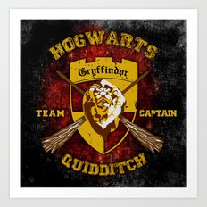 Gryffindor lion quidditch team captain iPhone 4 4s 5 5c, ipod, ipad, pillow case, tshirt and mugs Art Print