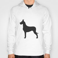 great dane Hoodies featuring Great Dane by Megan Clark