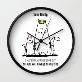 Fathers Day Girls Love Wall Clock
