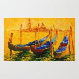 Golden evening in Venice Rug