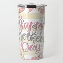 Happy Mothers Day Wreath Travel Mug