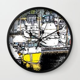A Day of Boating Wall Clock