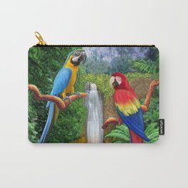 Macaw Tropical Parrots Carry-All Pouch