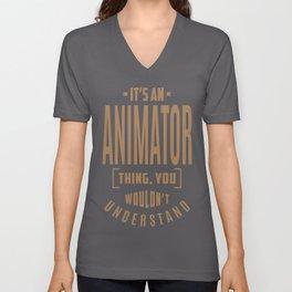 Animator - Funny Job and Hobby Unisex V-Neck