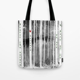 Mirror of nature Tote Bag