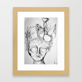 Heavy With Thought Framed Art Print