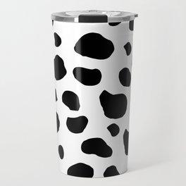 Animal Print (Cow Print), Cow Spots - White Black Travel Mug