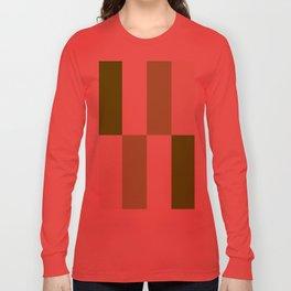 Green and White Gradient Blocks Long Sleeve T-shirt