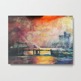 """the Thames at Charing Cross Road"" Monet Metal Print"