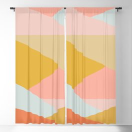 Large Triangle Pattern in Soft Earth Tones Blackout Curtain
