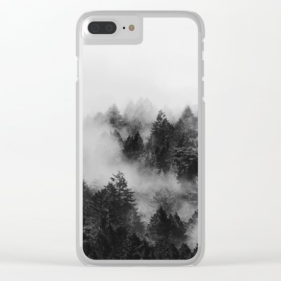 End in fire black & white (requested) Clear iPhone Case