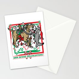 Swim Beyond Misconceptions - Happy Holidays! Stationery Cards