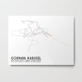 Gornaya Karusel, Sochi, Russia - North American Edition - Minimalist Trail Art Metal Print