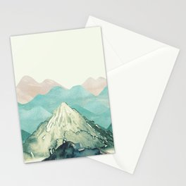 Mountains Landscape Watercolor Stationery Cards