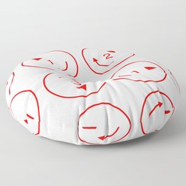 Rotations (Instructions and Code series) Floor Pillow