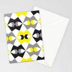 Yellow, gray & black geometric pattern Stationery Cards