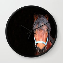Mustang Photography Print Wall Clock