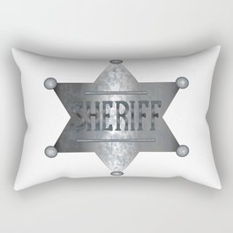 Sheriff Badge Rectangular Pillow