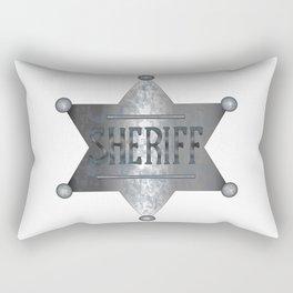 Sheriff Badge Rectangular Pillow
