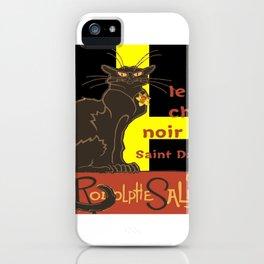 Le Chat Noir De Saint David De Rodolphe Salis iPhone Case