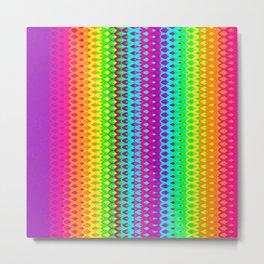 Hippy Rainbow Heaven Metal Print