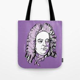 Handel Messiah Music, Composer, Orchestra, Musician, Baroque, Purple, Wig, Musical man Tote Bag