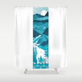 In The Ice Cold North Shower Curtain