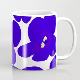Blue Retro Flowers Coffee Mug