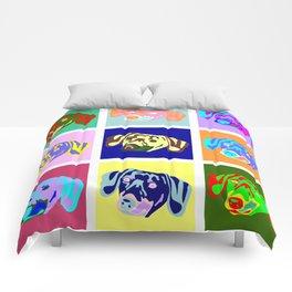 Dachshund Pop Art Comforters