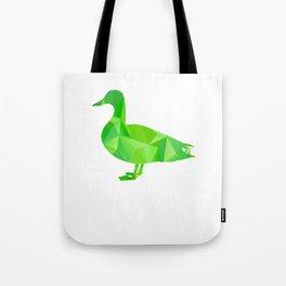 I Love Ducks Green Fowl Waterfowl Hunter Quack Geometric Tote Bag