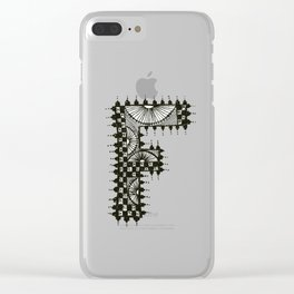 Color Me F Clear iPhone Case