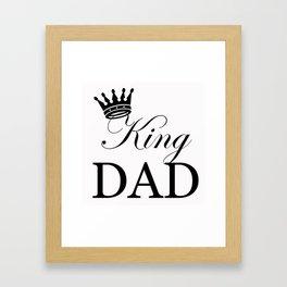 King Dad Framed Art Print