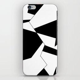 crazy clock-psychedelic,broken window,relativy,fun,black,white,red,crack,irregular,original,geometry iPhone Skin