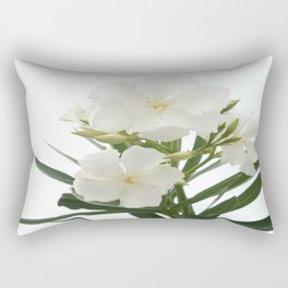 White Oleander Flowers Close Up Isolated On White Background  Rectangular Pillow