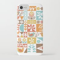 mid century iPhone & iPod Cases featuring Mid-Century Geometrics & Florals by Christine Witte