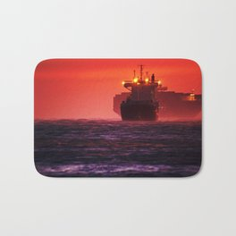 Ships in the windstorm Bath Mat