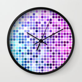Happy square dots Wall Clock