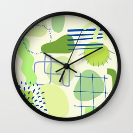 Suburbia from Above - Abstract Postmodern Retro Pattern Wall Clock