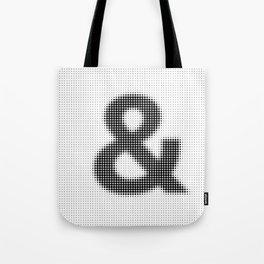 Halftone Ampersand Sans Serif Tote Bag